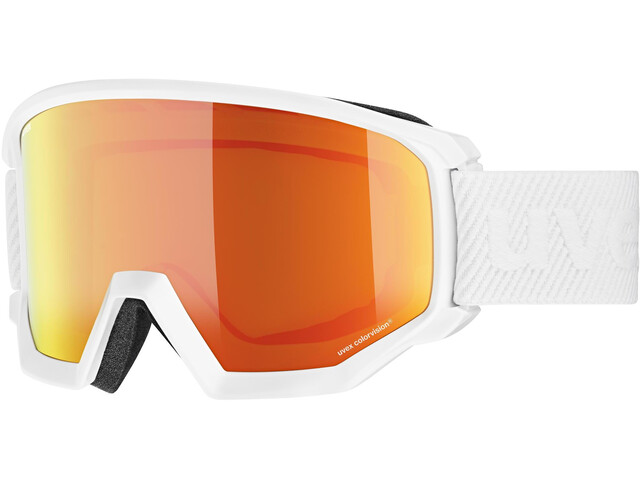 UVEX Athletic CV Goggles, white/mirror orange